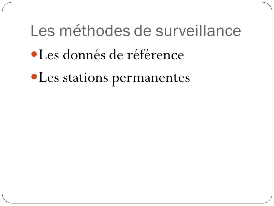 Les méthodes de surveillance Les donnés de référence Les stations permanentes