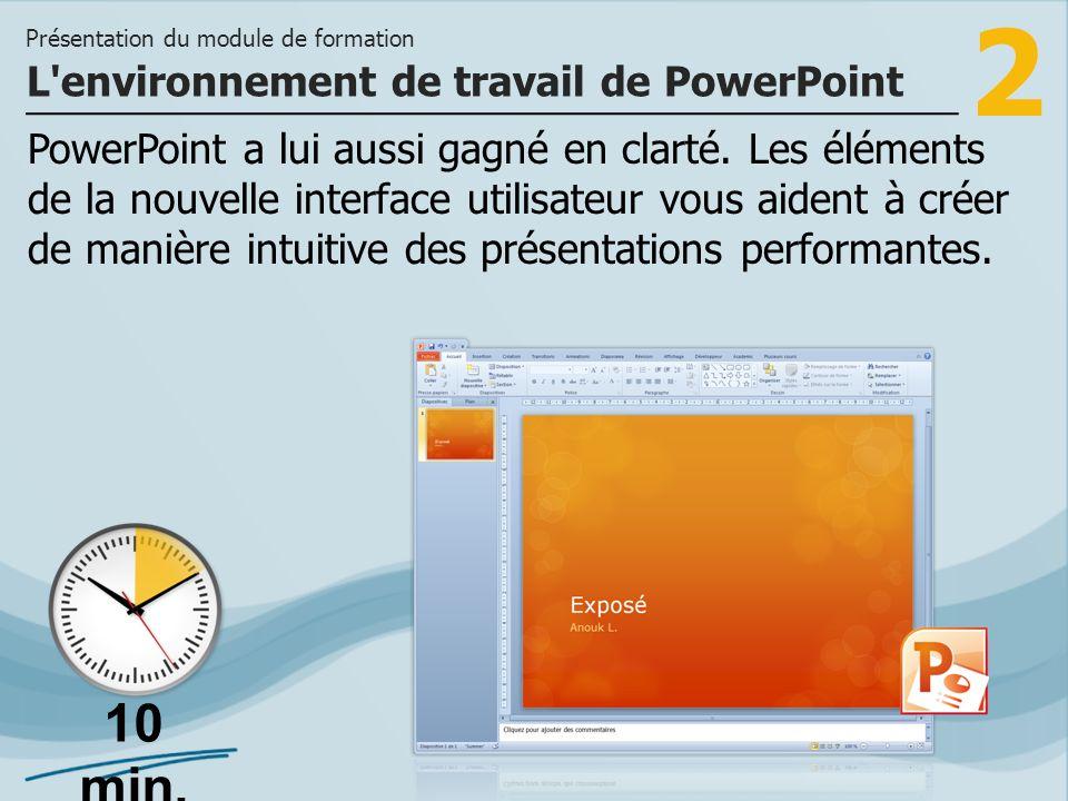 2 PowerPoint a lui aussi gagné en clarté.