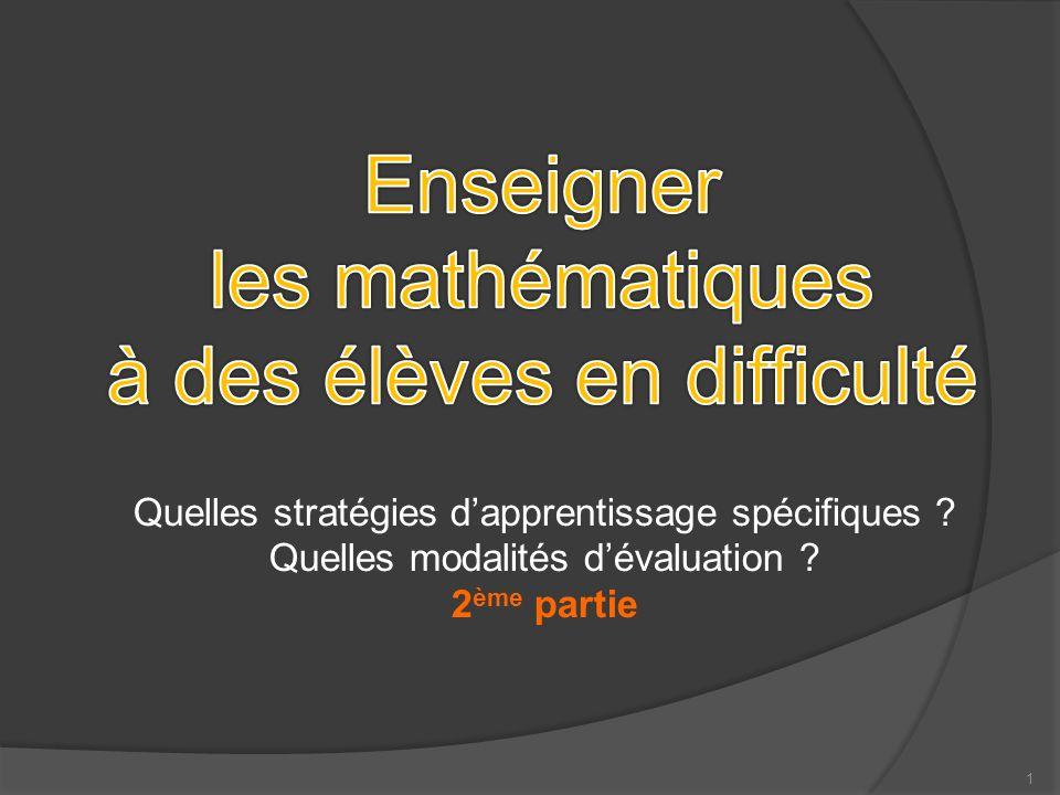 2 Origine des difficultés des élèves, Origine des difficultés des élèves, quelles stratégies .