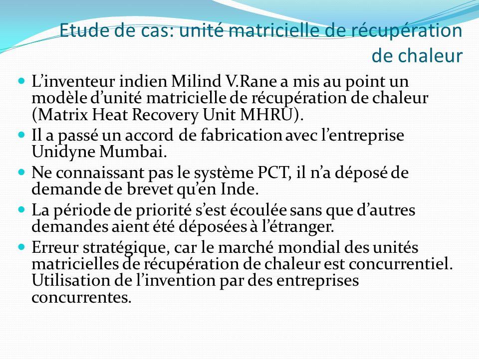 Linventeur indien Milind V.Rane a mis au point un modèle dunité matricielle de récupération de chaleur (Matrix Heat Recovery Unit MHRU). Il a passé un