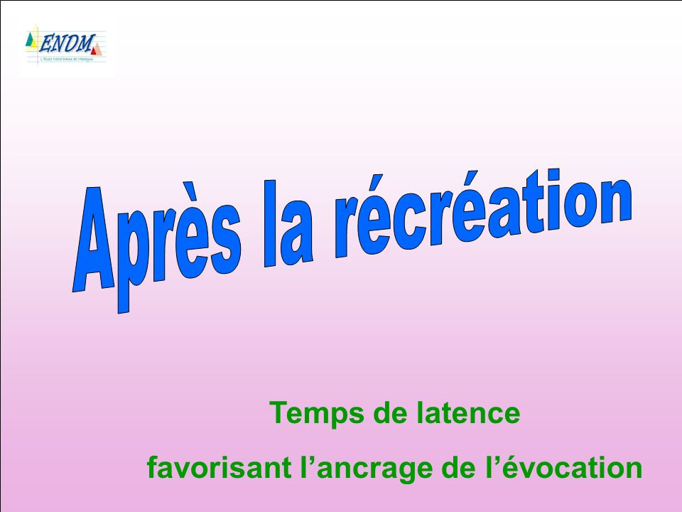 Temps de latence favorisant lancrage de lévocation