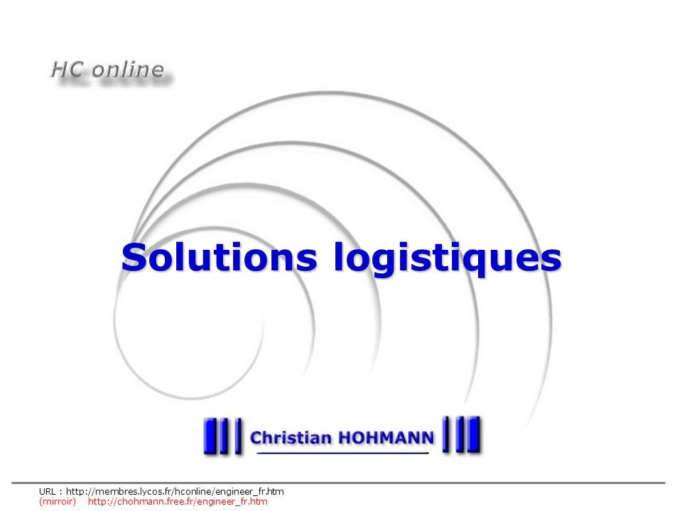 30 sept 2002 HC online est une initiative personnelle et privée – tous droits réservés © Christian HOHMANN Solutions logistiques Les solutions logistiques sont les modes d organisation définis et mis en place entre client(s) et fournisseur(s) sur un ou plusieurs segments de la chaîne logistique.