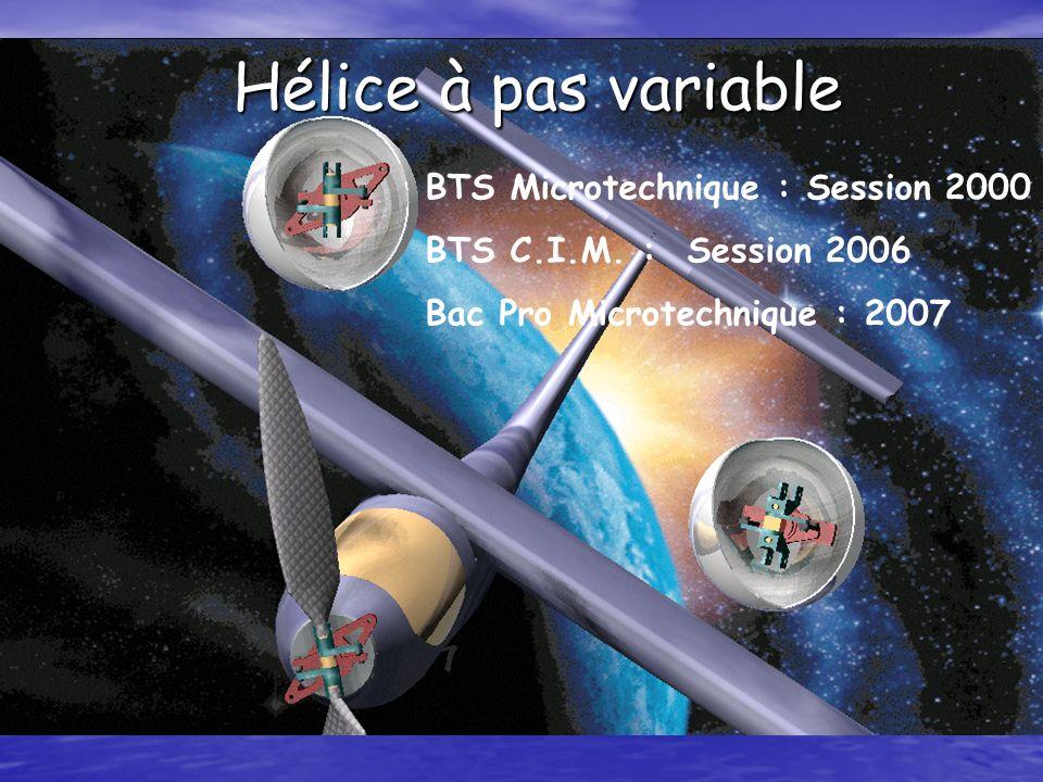 Reconception du projet en version industrielle (BTS CIM 2006)