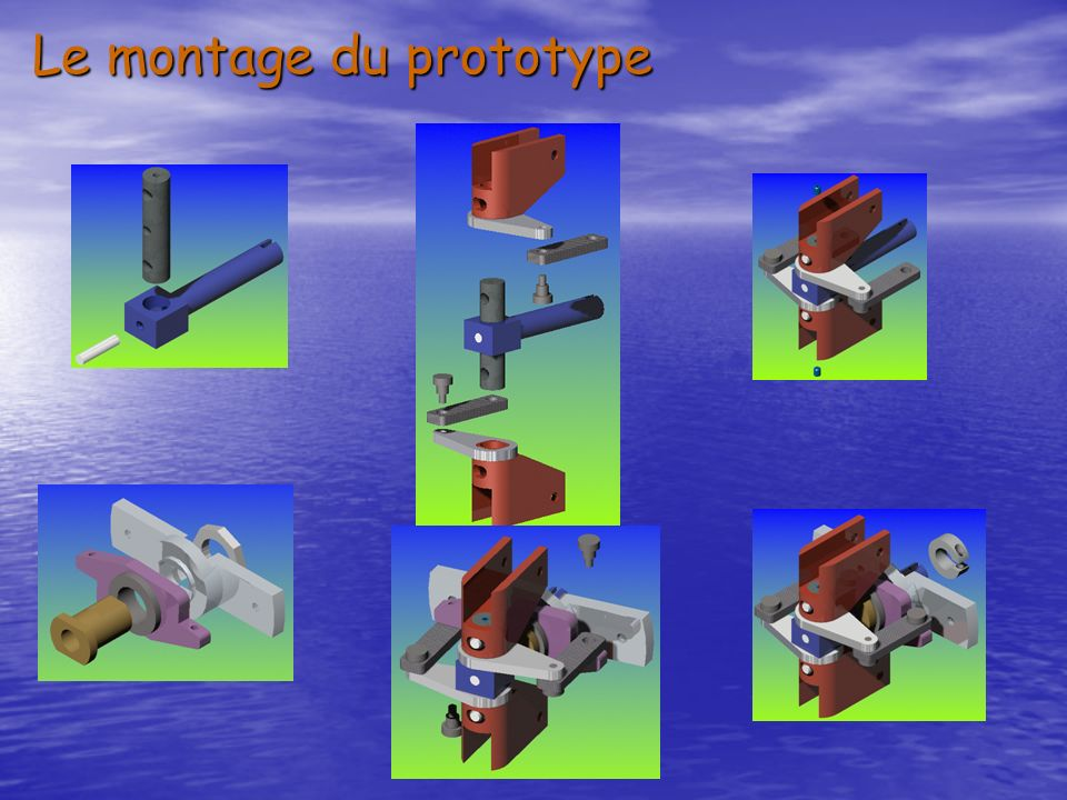 Les photos des pièces du prototype