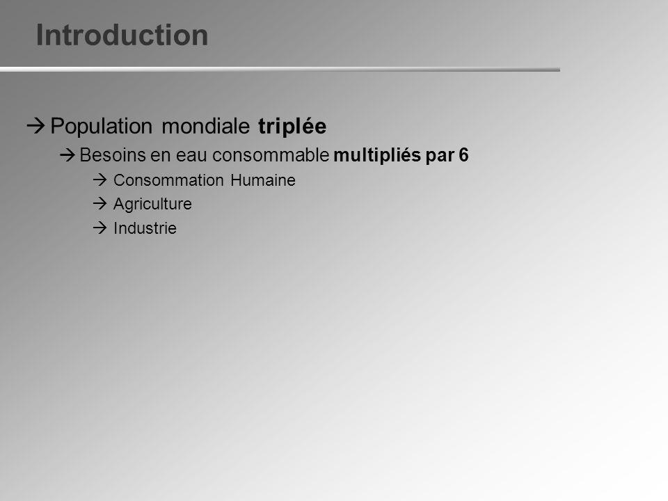 G - + Cathode (+)Anode (-) a) Le dessalement par Électrodialyse II) Les procédés de dessalement
