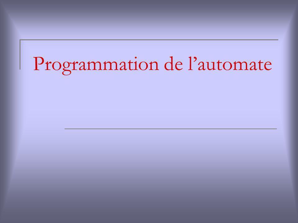 Programmation de lautomate