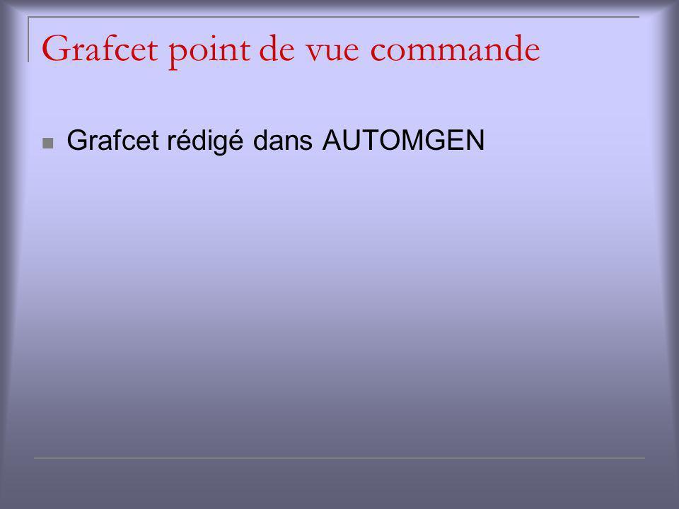 Grafcet point de vue commande Grafcet rédigé dans AUTOMGEN