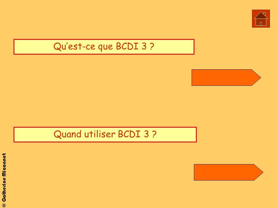 © Catherine Miconnet Quest-ce que BCDI 3 ? Quand utiliser BCDI 3 ?