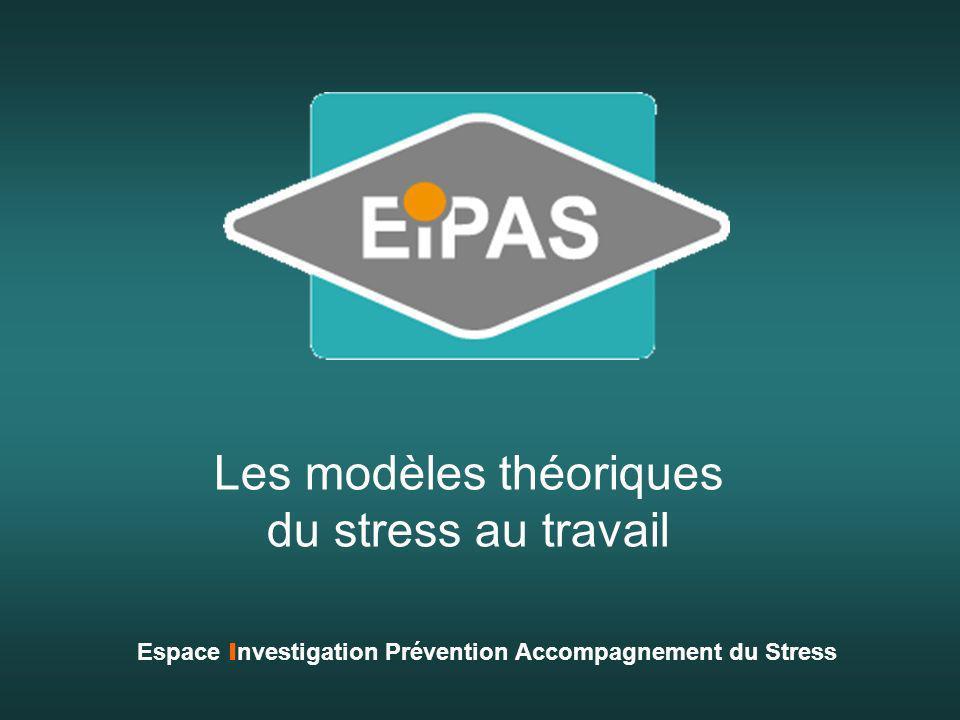 Les modèles théoriques du stress au travail Espace I nvestigation Prévention Accompagnement du Stress