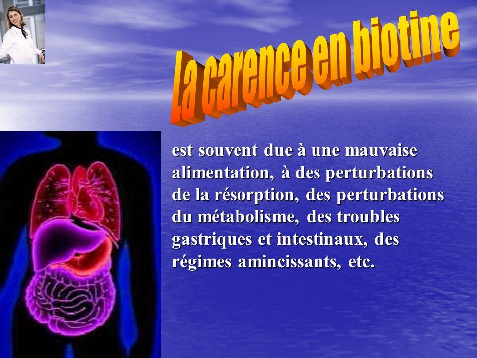 est souvent due à une mauvaise alimentation, à des perturbations de la résorption, des perturbations du métabolisme, des troubles gastriques et intest