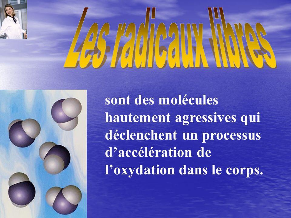 sont des molécules hautement agressives qui déclenchent un processus daccélération de loxydation dans le corps.