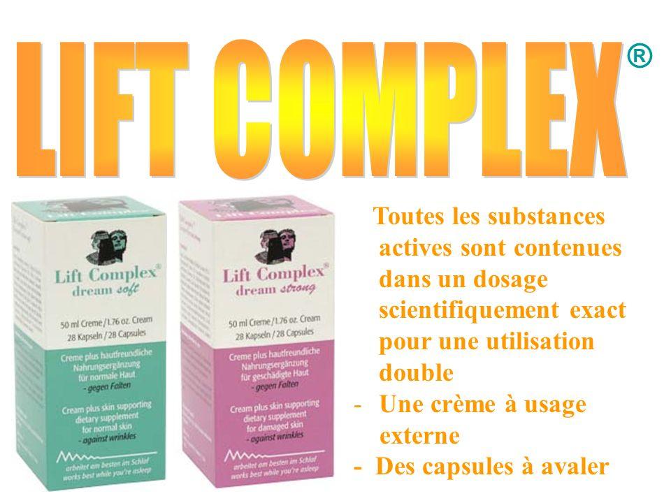 ® Toutes les substances actives sont contenues dans un dosage scientifiquement exact pour une utilisation double -U-Une crème à usage externe - Des ca