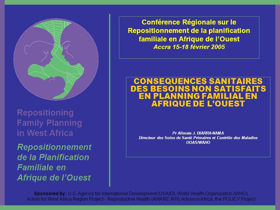 Repositioning Family Planning in West Africa Repositionnement de la Planification Familiale en Afrique de lOuest Sponsored by: U.S. Agency for Interna