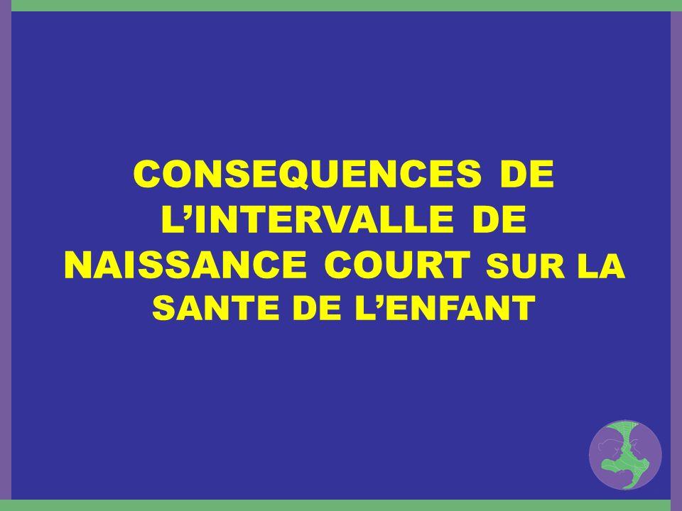CONSEQUENCES DE LINTERVALLE DE NAISSANCE COURT SUR LA SANTE DE LENFANT