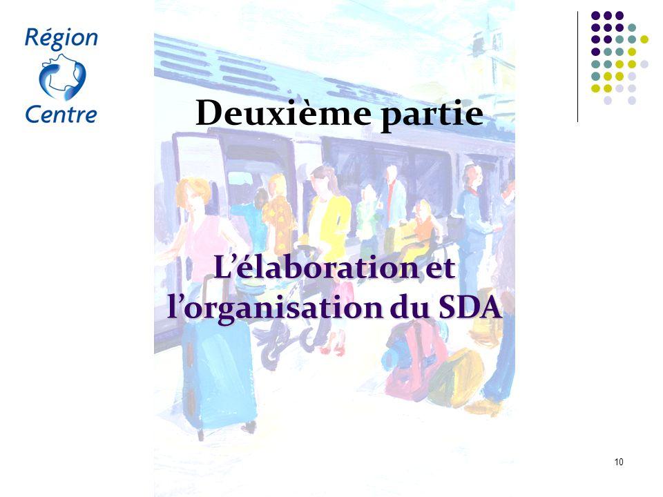 Le schéma directeur d'accessibilité du service régional de transport public du Centre 10 Deuxième partie Lélaboration et lorganisation du SDA
