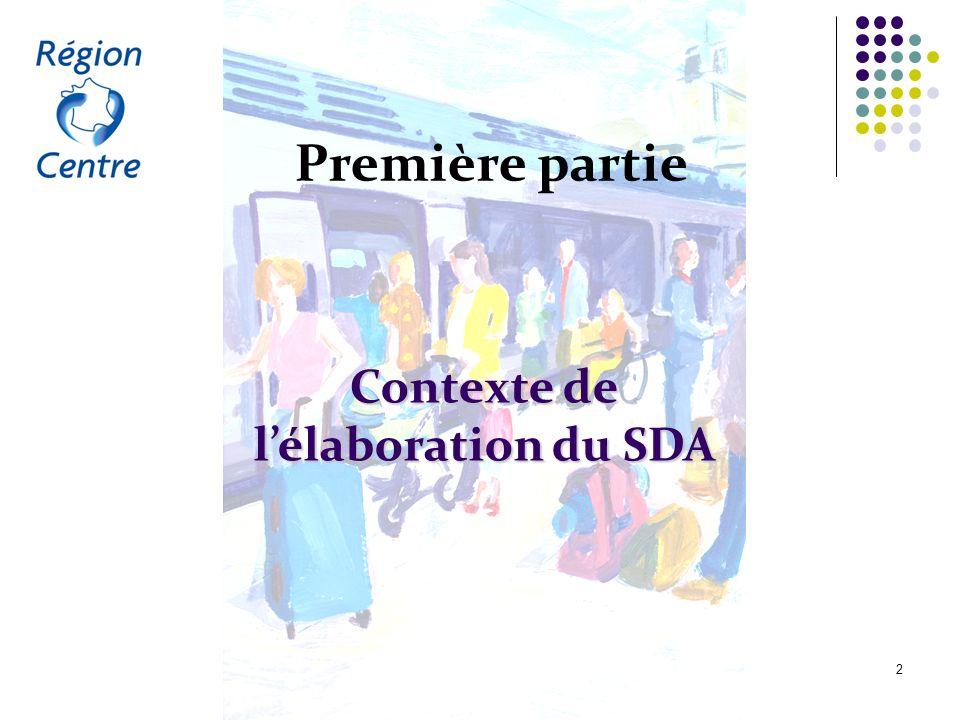 Le schéma directeur d'accessibilité du service régional de transport public du Centre 2 Première partie Contexte de lélaboration du SDA