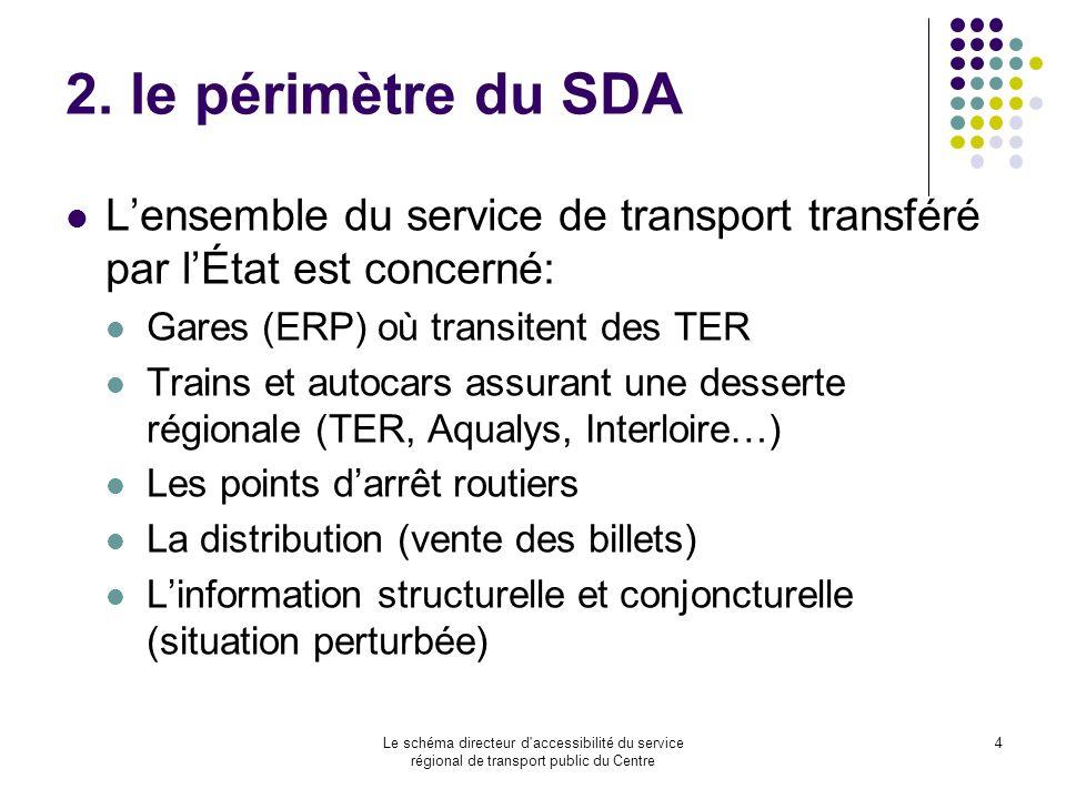 Le schéma directeur d'accessibilité du service régional de transport public du Centre 4 2. le périmètre du SDA Lensemble du service de transport trans