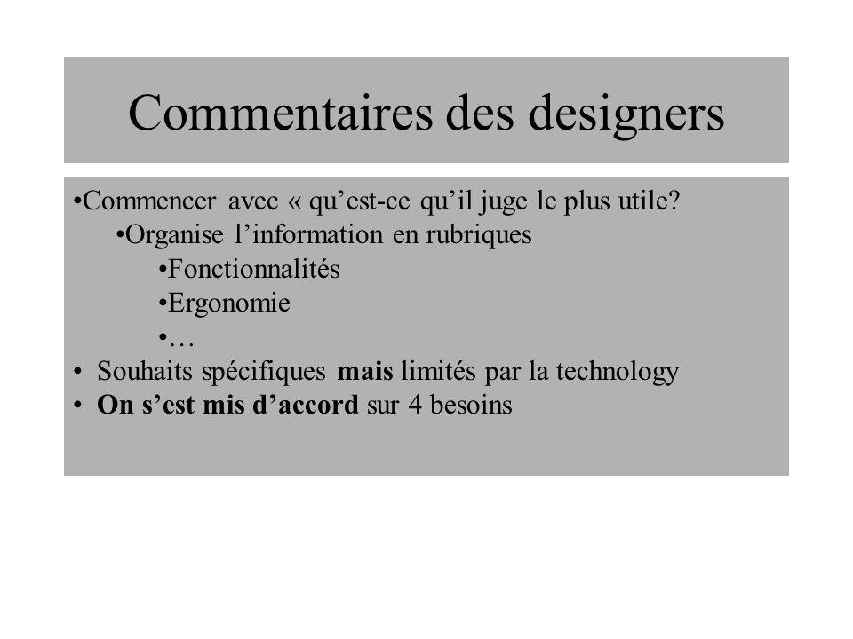 La communication entre designer et utilisateur nest pas simple Le designer a le problème Lutilisateur ne sait pas comment exprimer ses besoins La relation des besoins utilisateur au design nest pas toujours évidente