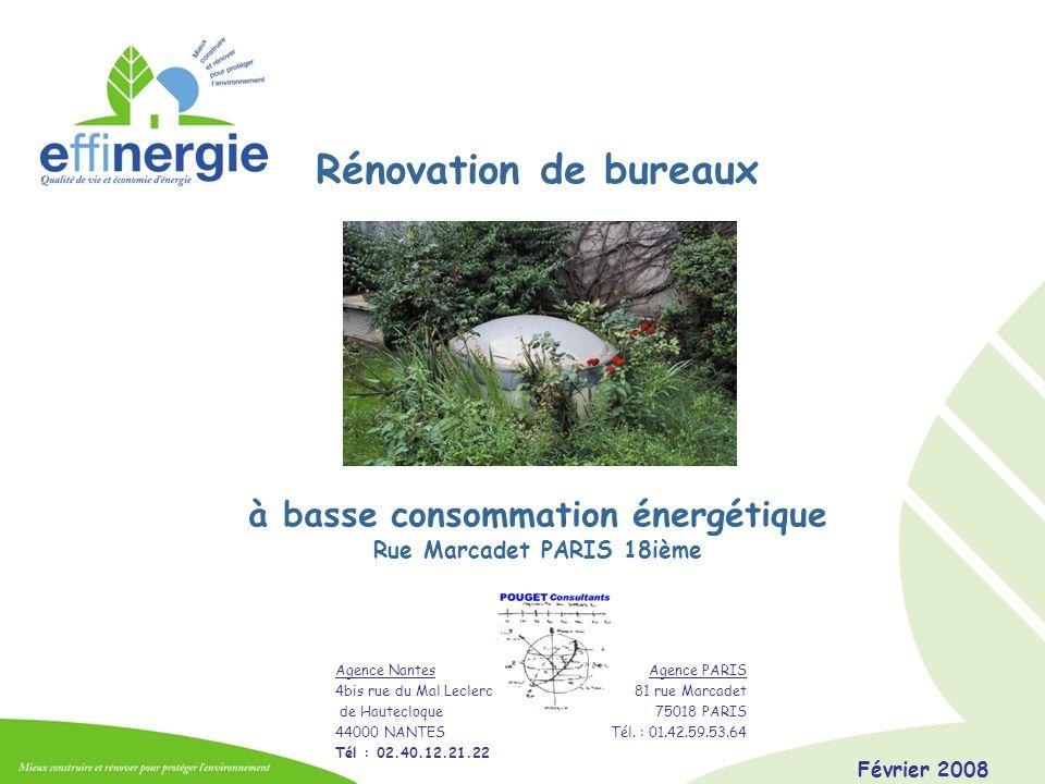 Février 2008POUGET Consultants Performances des systèmes : chauffage Pompe à chaleur sur air (parkings) / eau PCBT Plancher chauffant Acome Pompe à chaleur Atlantic