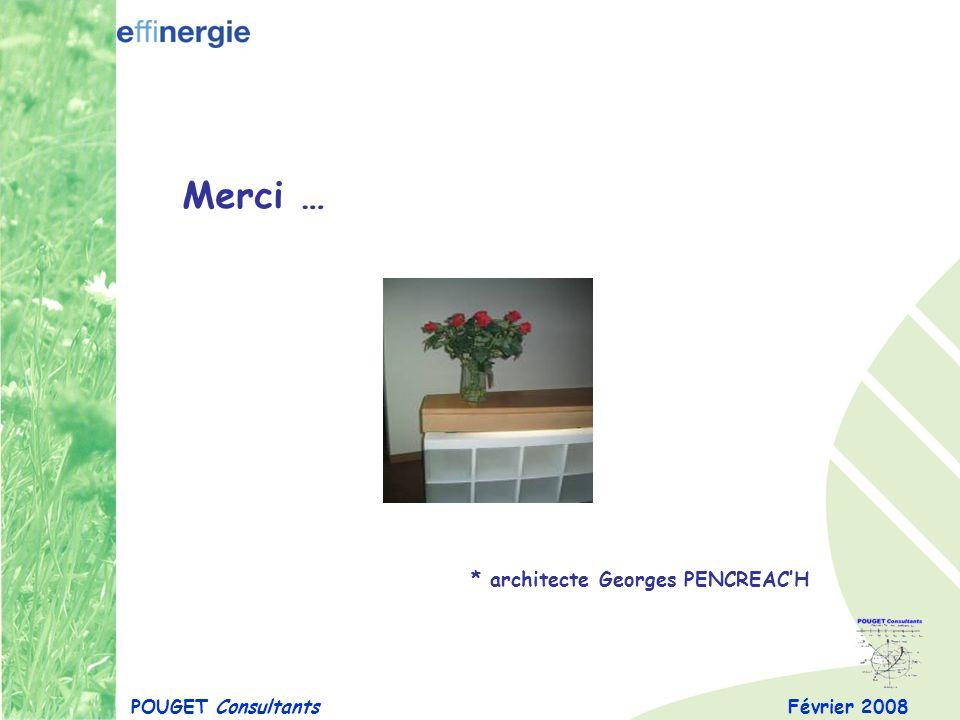 Février 2008 Merci … POUGET Consultants * architecte Georges PENCREACH