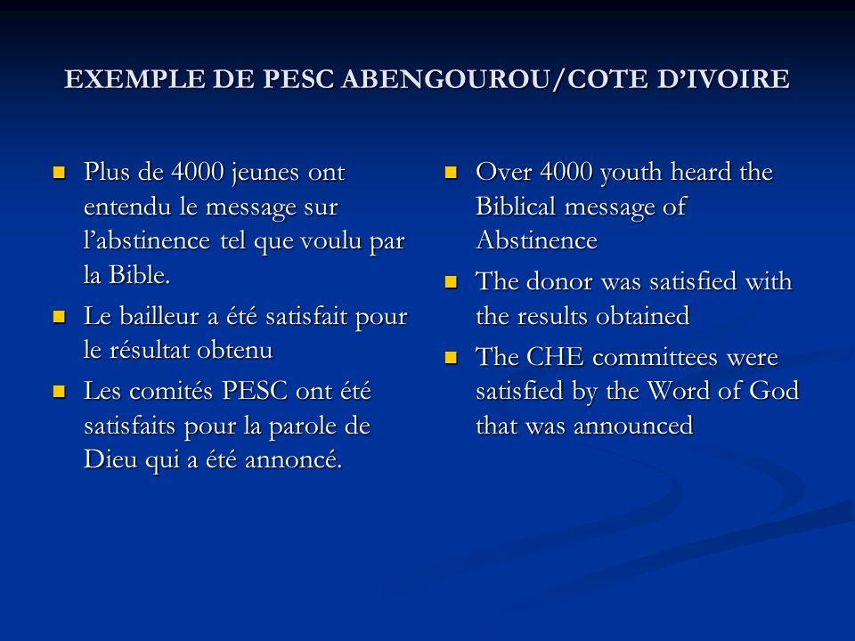 Plus de 4000 jeunes ont entendu le message sur labstinence tel que voulu par la Bible. Plus de 4000 jeunes ont entendu le message sur labstinence tel