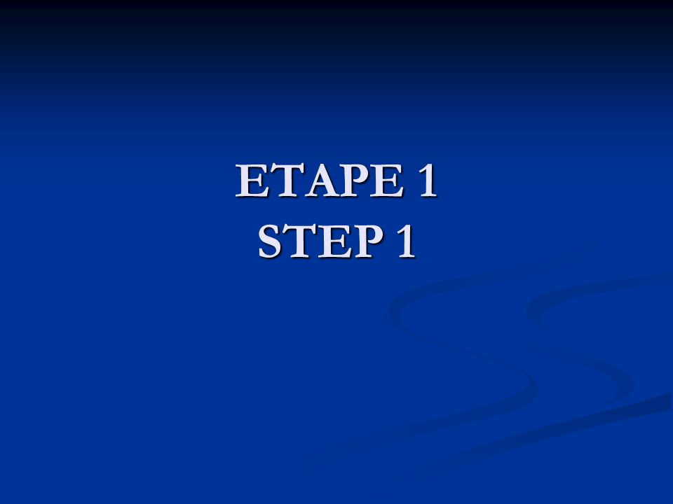 ETAPE 1 LE PREALABLE 1 COMITE 1 COMITE 10 ASECs 10 ASECs 1 COMMITTEE 10 CHEs