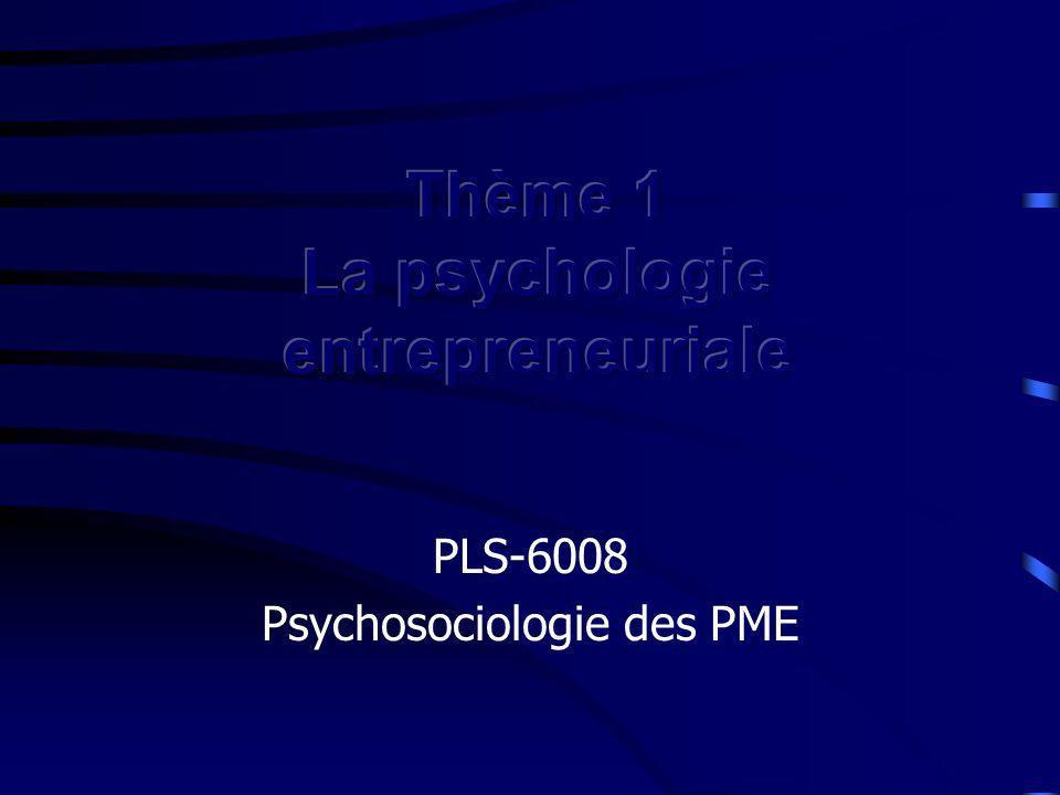 Traits de personnalité Persévérance Tolérance à l ambiguïté Tolérance au stress Propension à la prise de risques Type A Internalité du lieu de contrôle Innovateur