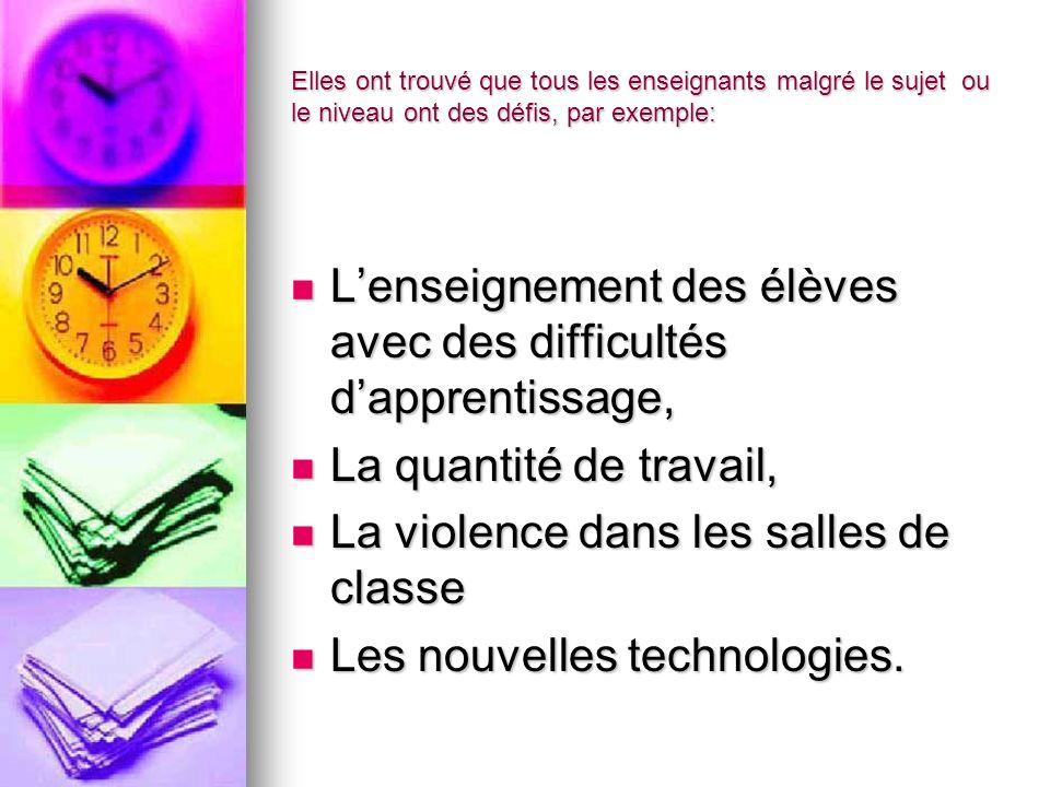 Les enseignants de français ont des défis spécifiques: Les matériels et les ressources, insuffisamment financés Les matériels et les ressources, insuffisamment financés Les compétences des enseignants Les compétences des enseignants Lintégration de la langue dans les matières Lintégration de la langue dans les matières