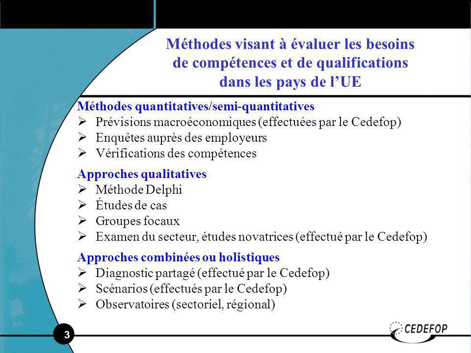 4 Implications au niveau de la politique Nouveaux besoins de compétences et de qualifications: où la mise en œuvre de loffre doit-elle se faire.