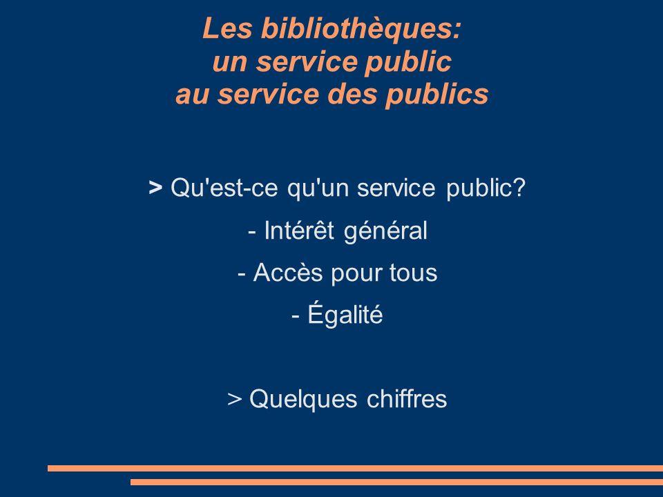 Les missions des bibliothèques Textes de référence.