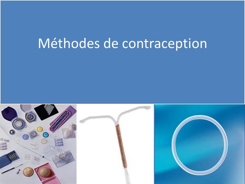 Méthodes hormonales Méthodes « barrières » Méthodes chirurgicales définitives Méthodes naturelles