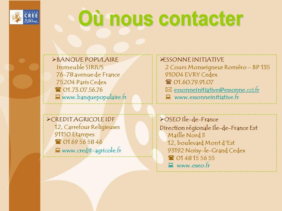 CREDIT AGRICOLE IDF 12, Carrefour Religieuses 91150 Etampes 01 69 56 58 46 www.credit-agricole.fr BANQUE POPULAIRE Immeuble SIRIUS 76-78 avenue de Fra