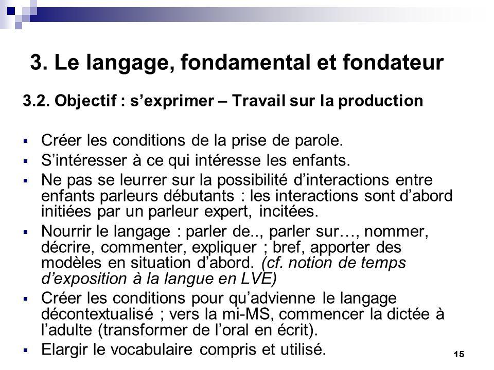 15 3.Le langage, fondamental et fondateur 3.2.