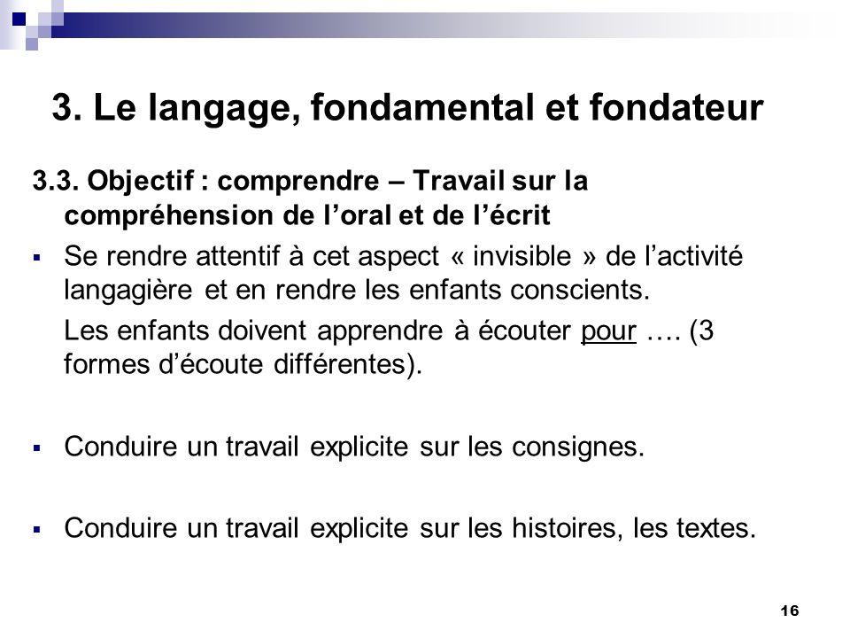 16 3.Le langage, fondamental et fondateur 3.3.