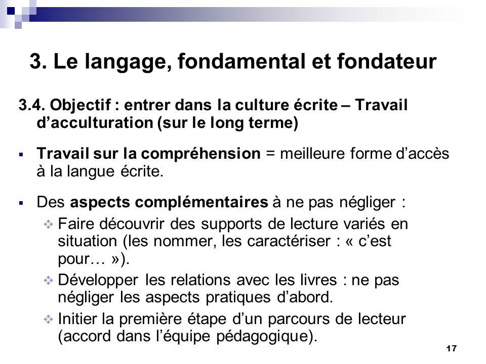 17 3.Le langage, fondamental et fondateur 3.4.