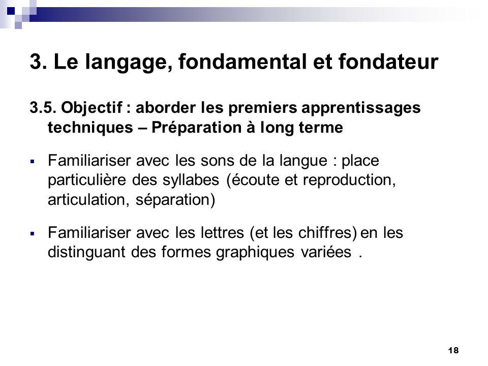 18 3.Le langage, fondamental et fondateur 3.5.