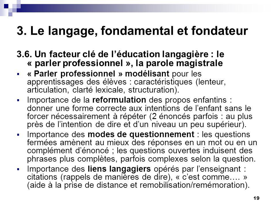 19 3.Le langage, fondamental et fondateur 3.6.
