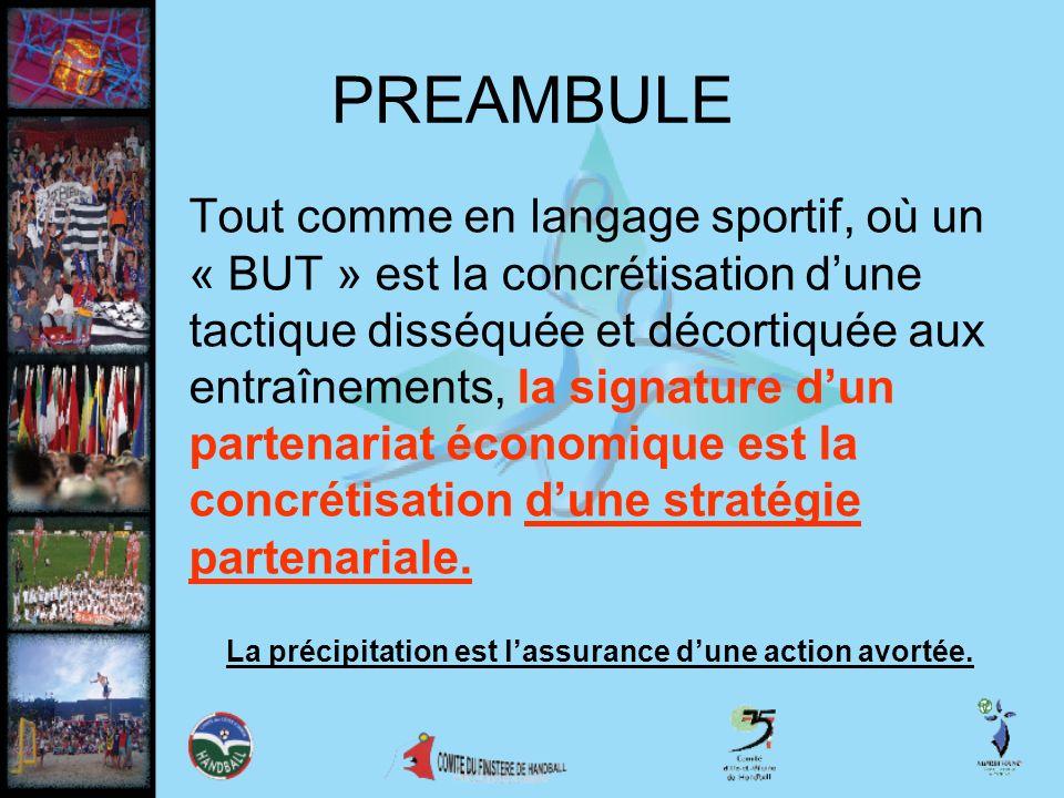 PREAMBULE Tout comme en langage sportif, où un « BUT » est la concrétisation dune tactique disséquée et décortiquée aux entraînements, la signature du