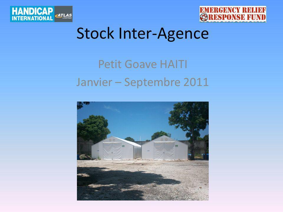 Stock Inter-Agence Petit Goave HAITI Janvier – Septembre 2011