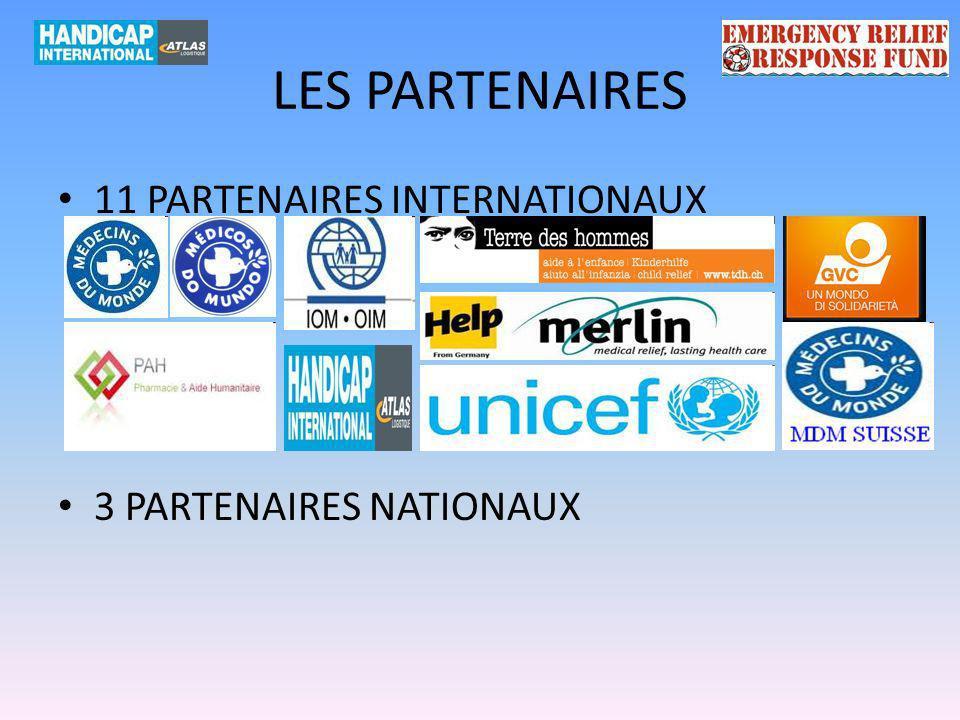 LES PARTENAIRES 11 PARTENAIRES INTERNATIONAUX 3 PARTENAIRES NATIONAUX