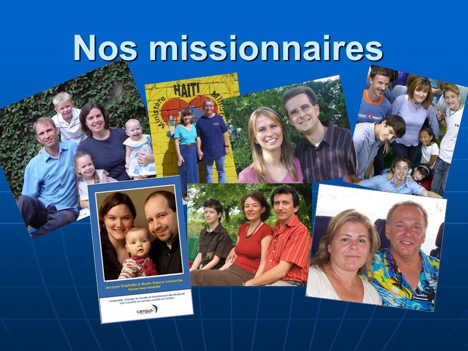 Nos missionnaires