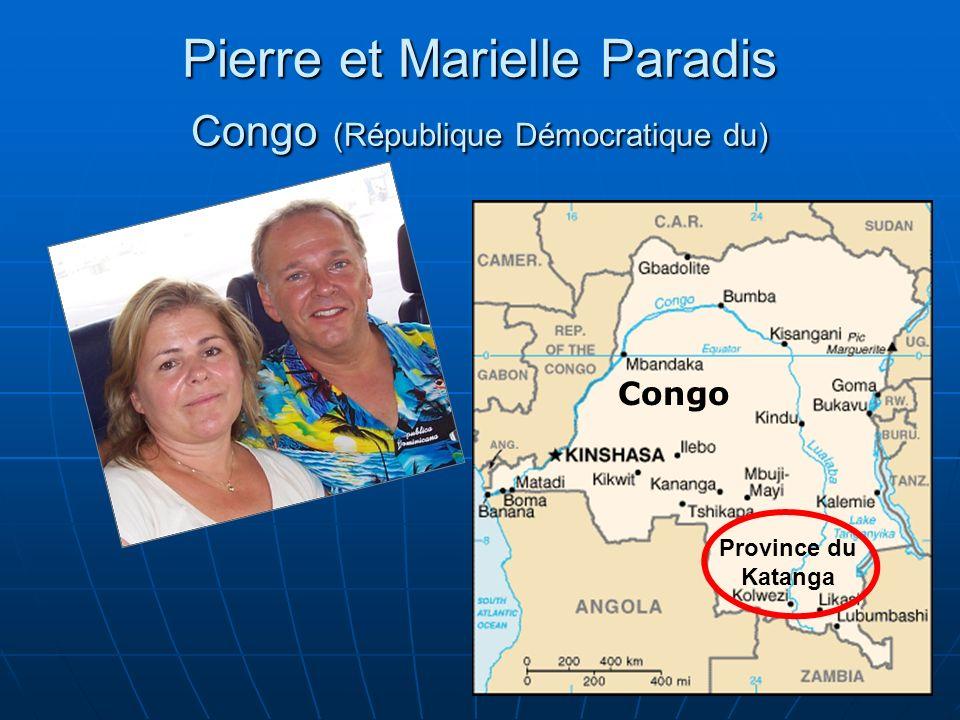 Congo Province du Katanga Pierre et Marielle Paradis Congo (République Démocratique du)