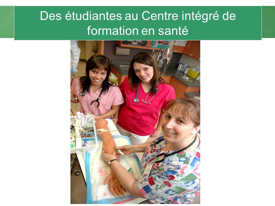 Des étudiantes au Centre intégré de formation en santé