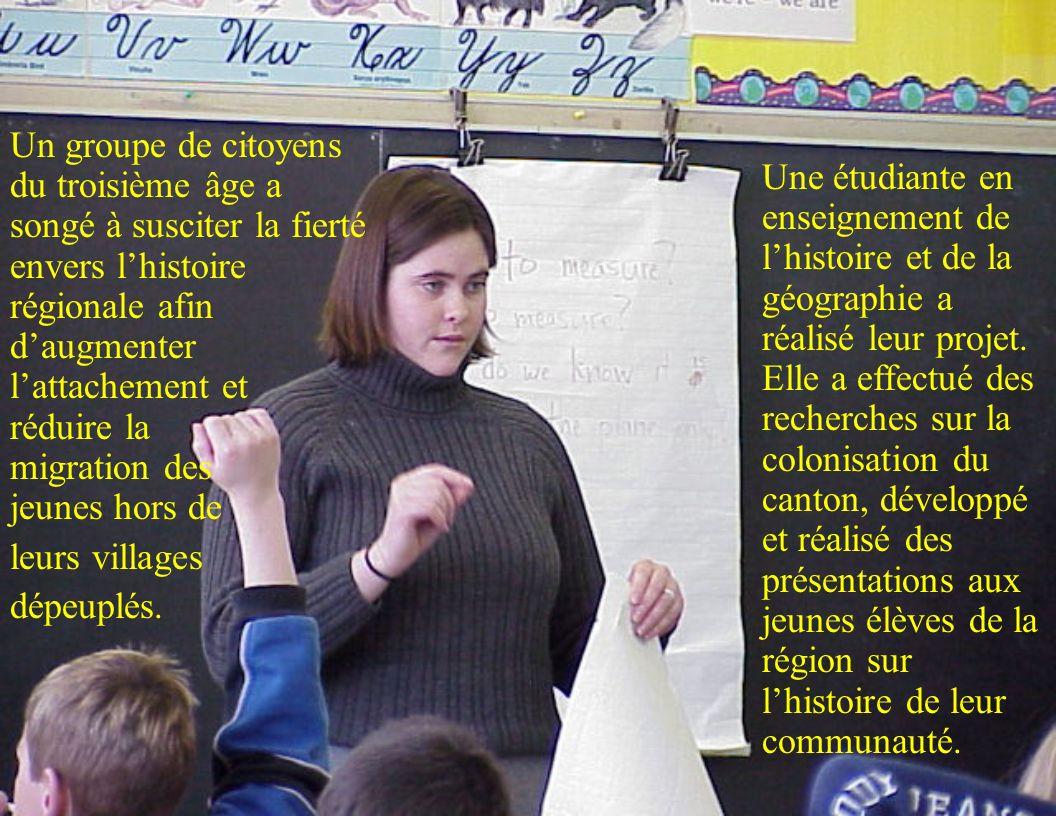 Une étudiante en enseignement de lhistoire et de la géographie a réalisé leur projet.