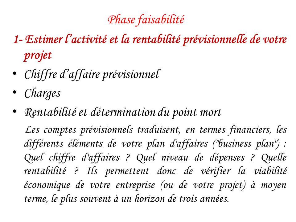 Phase développement Actualisation des prévisions financières Réactualisation du business plan Les prévisions financières doivent être réactualisées en permanence.