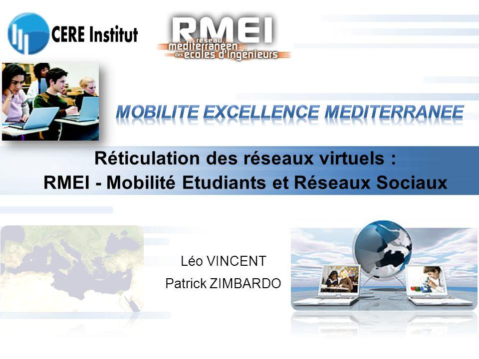 Réticulation des réseaux virtuels : RMEI - Mobilité Etudiants et Réseaux Sociaux Léo VINCENT Patrick ZIMBARDO