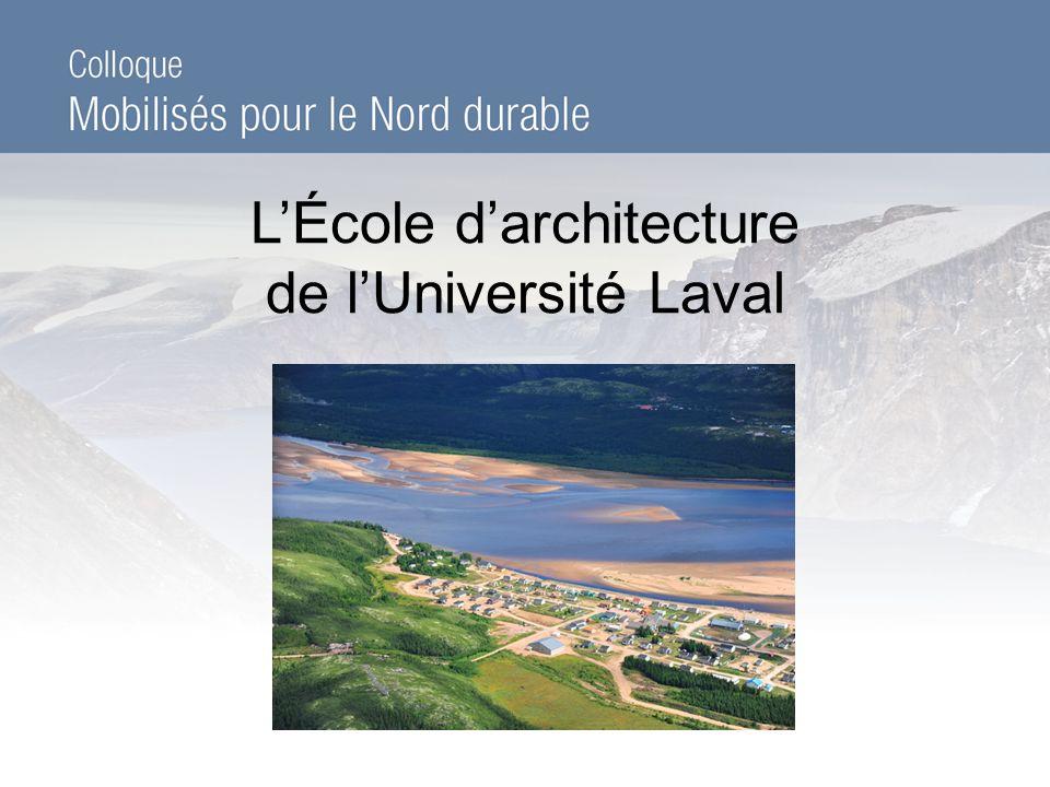 LÉcole darchitecture de lUniversité Laval