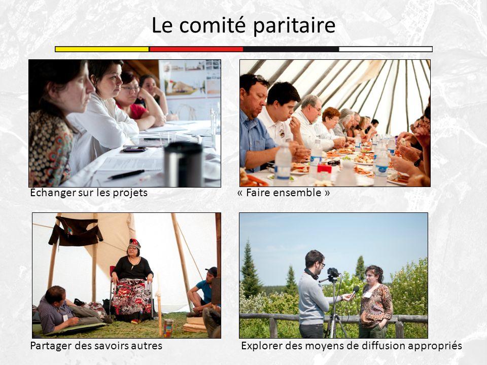 Le comité paritaire Échanger sur les projets« Faire ensemble » Partager des savoirs autresExplorer des moyens de diffusion appropriés