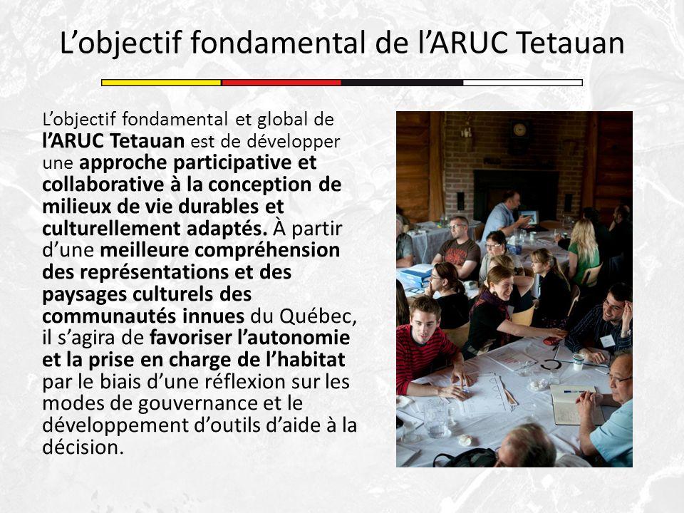 Lobjectif fondamental et global de lARUC Tetauan est de développer une approche participative et collaborative à la conception de milieux de vie durab