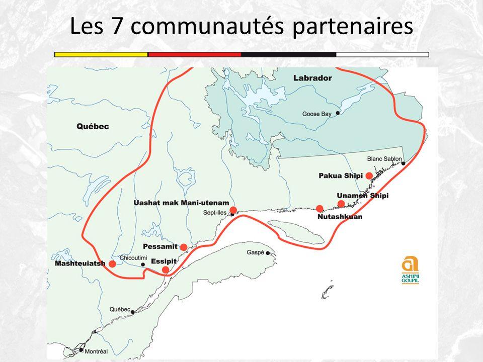 Les 7 communautés partenaires